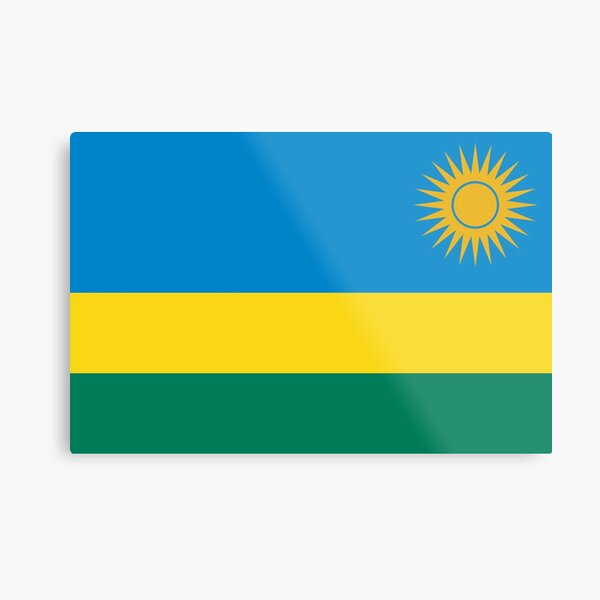 Rwanda Flag- Show your love for Rwanda! Metal Print