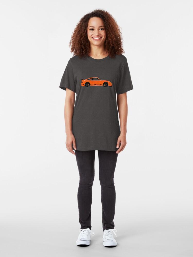 Alternate view of Pumpkin Racer – 997 GT3 RS Inspired Slim Fit T-Shirt