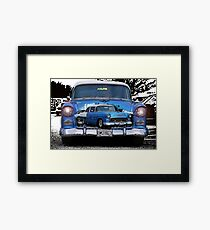 Classic Chevy Double Exposure Framed Print