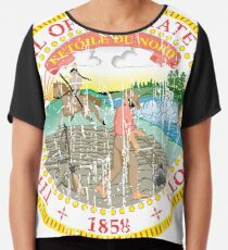 MINNESOTA STATE SEAL - POPULAR DISTRESSED STATE DESIGN WITH MINNESOTA STATE SEAL Chiffon Top