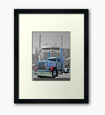 OldSkool Peterbilt Double Exposure Framed Print