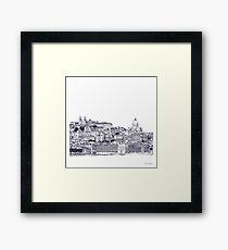 Lisbon Portugal Sketch Framed Print