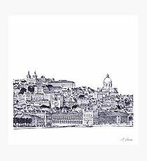 Lisbon Portugal Sketch Photographic Print