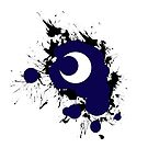 Lunar Splat (black paint, white background) by RiftwingDesigns