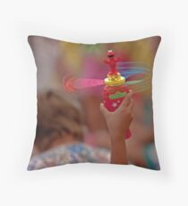Spinning Elmo Throw Pillow