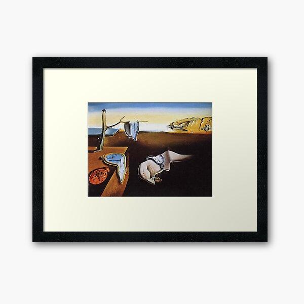 THE PERSISTENCE OF MEMORY - SALVADOR DALI  Framed Art Print
