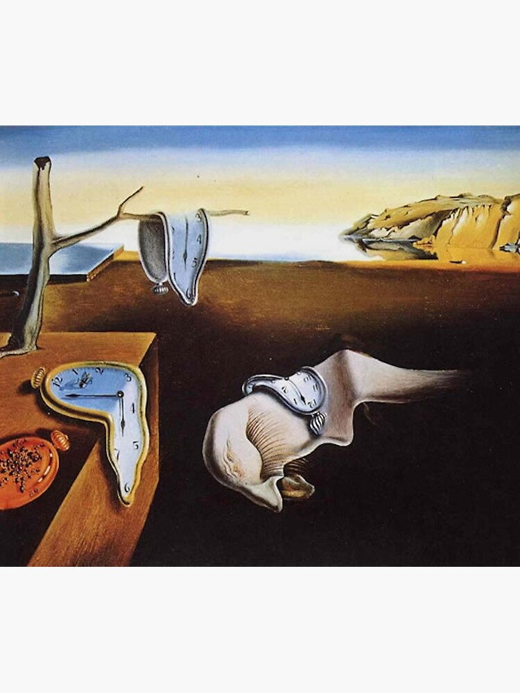 THE PERSISTENCE OF MEMORY - SALVADOR DALI  by iconicpaintings