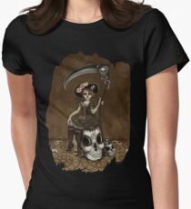 Girl 56 | Tarot Inspired Girl  Smudge edition Women's Fitted T-Shirt