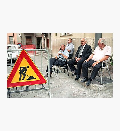 Men At Work Photographic Print