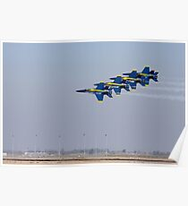 Blue Angels - Low and Fast Poster