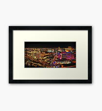 The Vegas Strip at Night Framed Print
