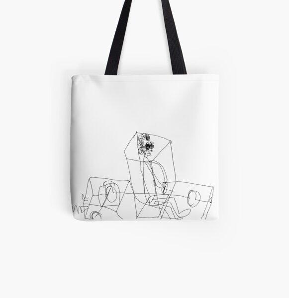 Grandma Irene in X-Ray Car All Over Print Tote Bag