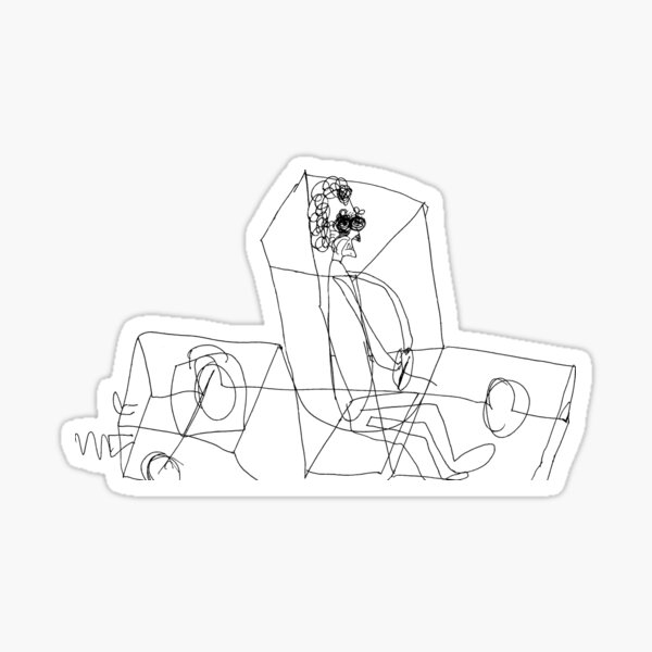 Grandma Irene in X-Ray Car Sticker