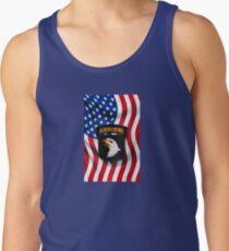 101st Airborne - American Flag Tank Top