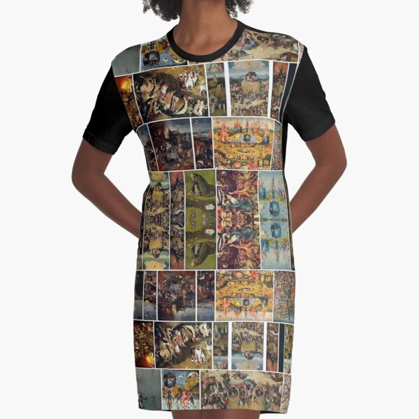 #Hieronymus, #Bosch, #HieronymusBosch, #Paintings, Fantastic Landscapes, Heavenly Powers, Graphic T-Shirt Dress