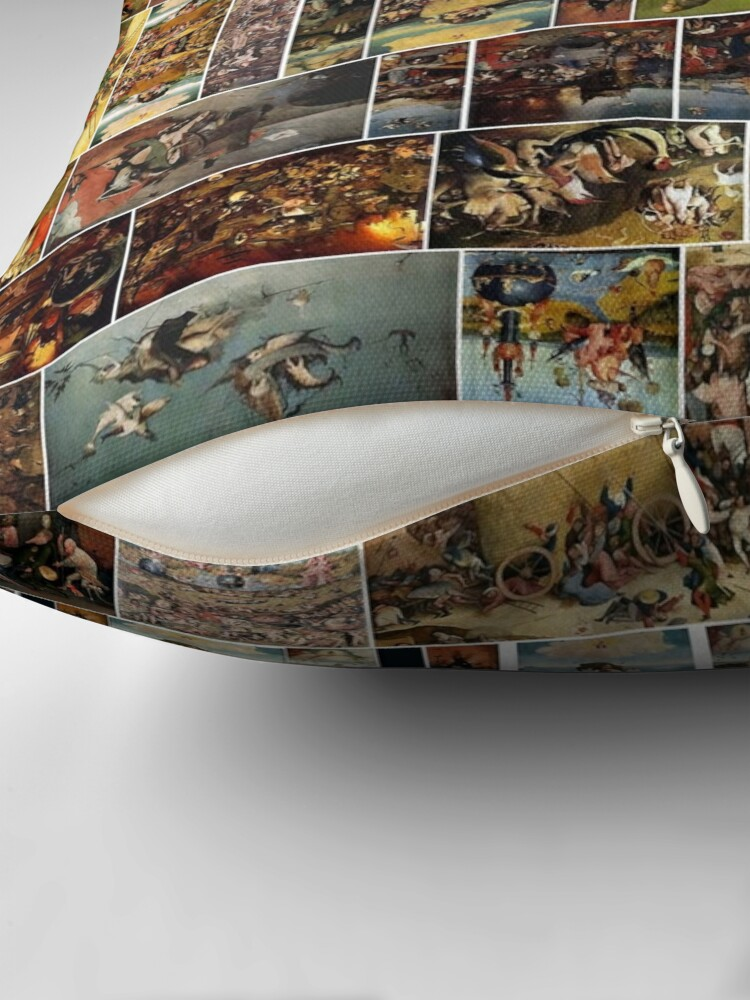 Alternate view of #Hieronymus, #Bosch, #HieronymusBosch, #Paintings, Fantastic Landscapes, Heavenly Powers, Throw Pillow
