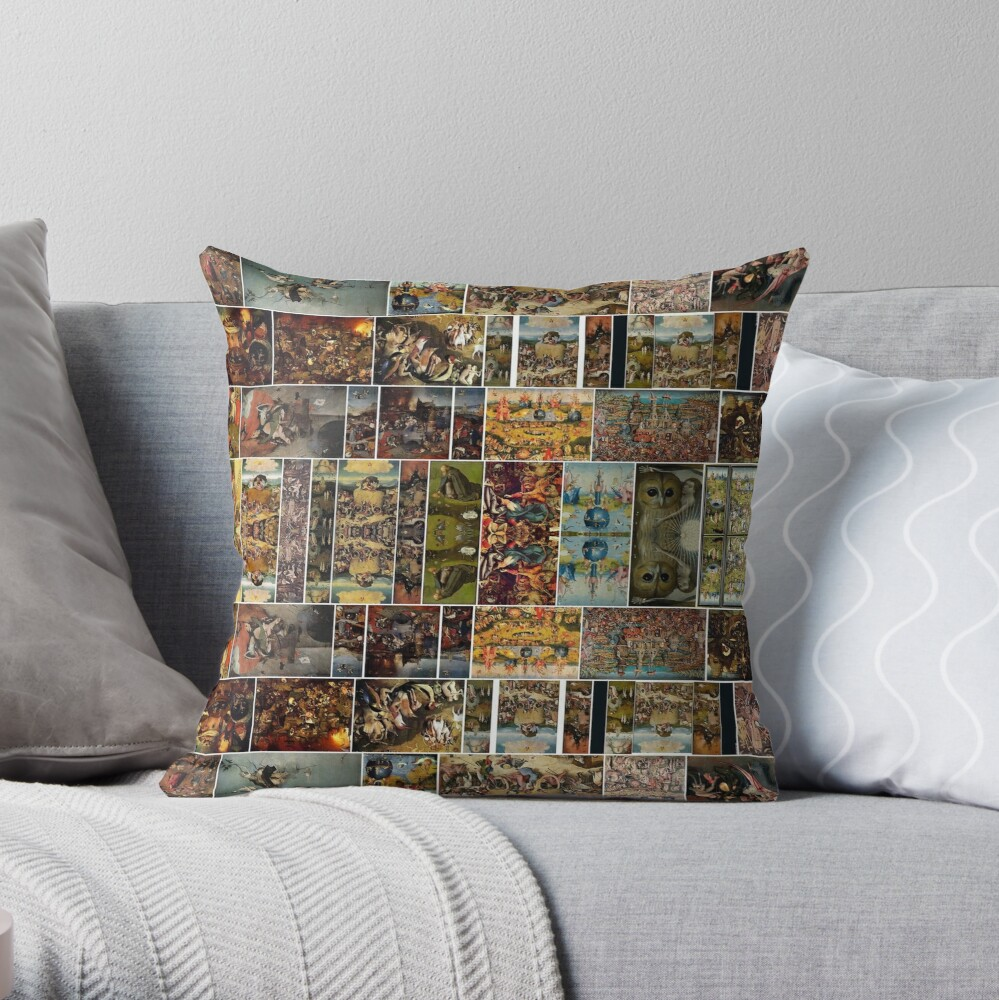 #Hieronymus, #Bosch, #HieronymusBosch, #Paintings, Fantastic Landscapes, Heavenly Powers, Throw Pillow