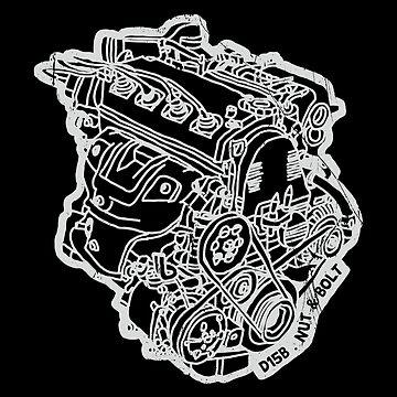 Honda Civic VTI CRX D15B Engine by nutandbolt