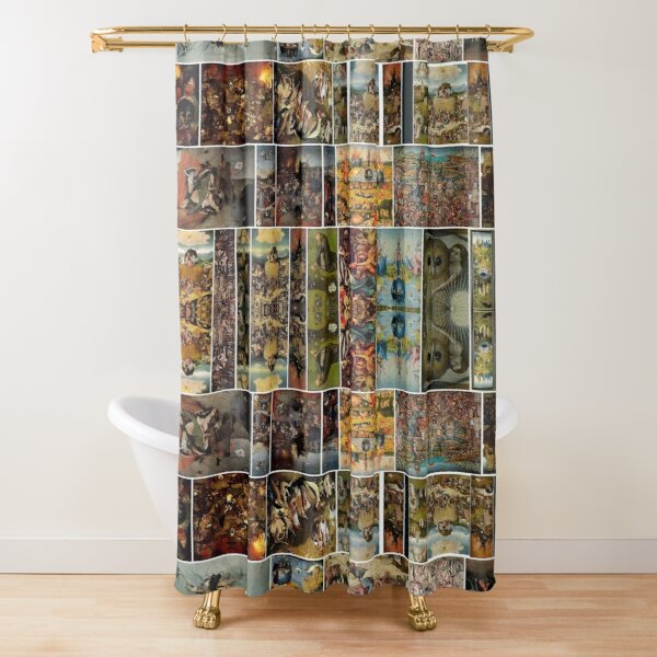 #Hieronymus, #Bosch, #HieronymusBosch, #Paintings, Fantastic Landscapes, Heavenly Powers, Shower Curtain