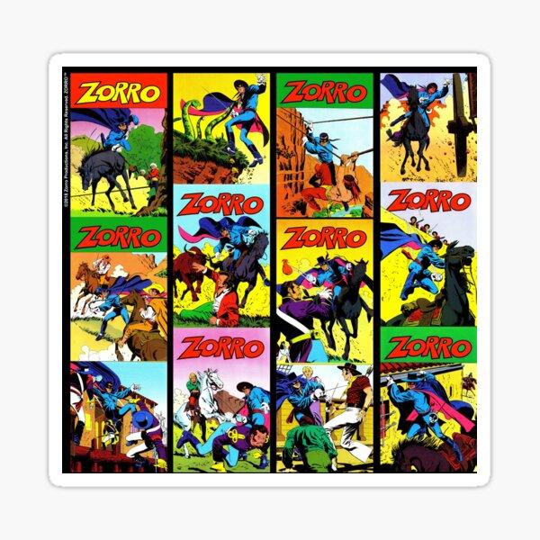 Zorro™ Comic Book Pattern 1a Sticker