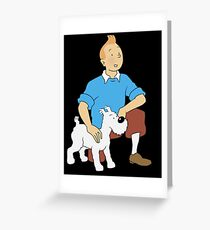 tintin adventure cartoon Greeting Card