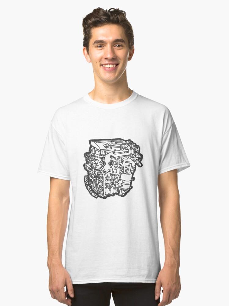Honda Civic Type R FK2 K20C1 Engine Classic T-Shirt Front
