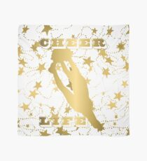 Cheer Life Design in Gold with Stars Scarf