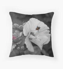 Japanese Beetle on Flower Throw Pillow