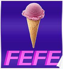 FEFE Ice Cream Cone Poster