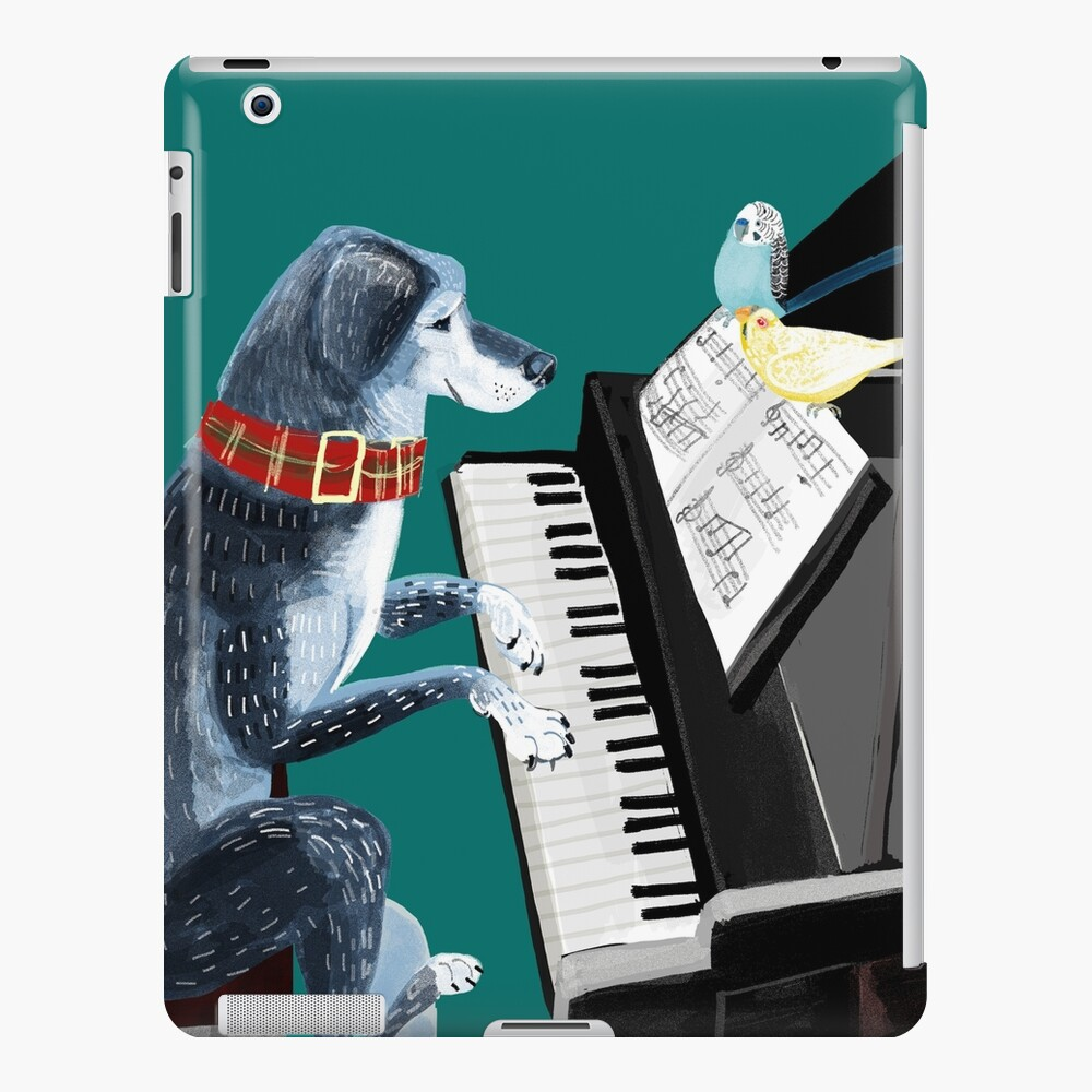 Piano lesson with Angel iPad Case & Skin