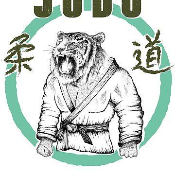 Judo Tiger eastern design for judokas by Noto57