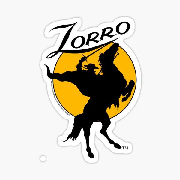 Zorro ™ Horse & Rider Silhouette Dawn 001a Pegatina
