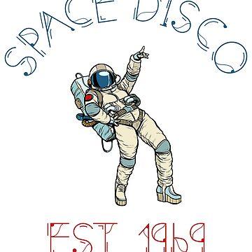 Space Disco Est. 1969 Moon Landing Astronaut design by Noto57