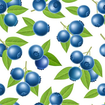 Blueberry seamless pattern by creaschon