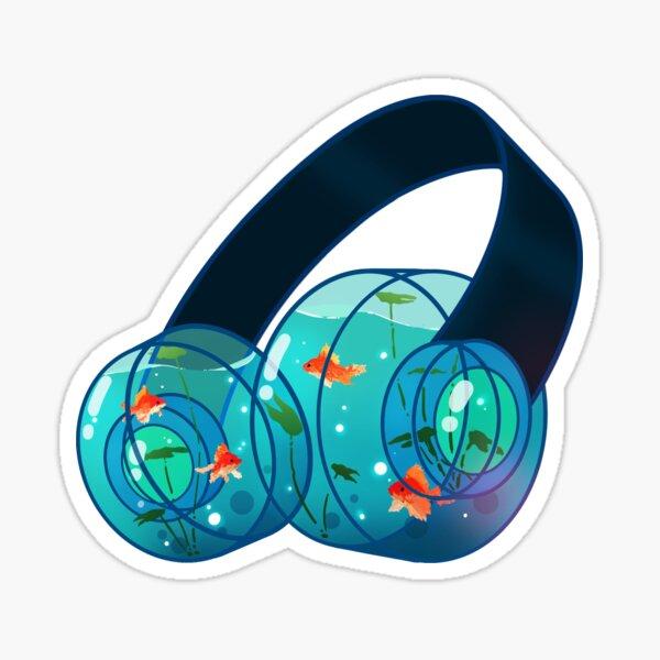 Goldfish Headphones Sticker