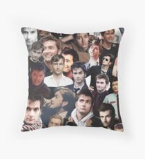 David Tennant Collage Throw Pillow