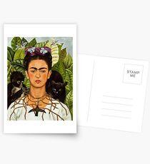 SELBSTPORTRAIT MIT THORN HALSKETTE UND KOLIBRI - FRIDA KAHLO Postkarten