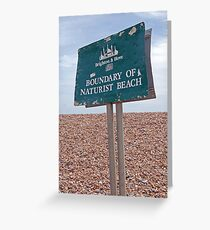Naturist Beach Greeting Card