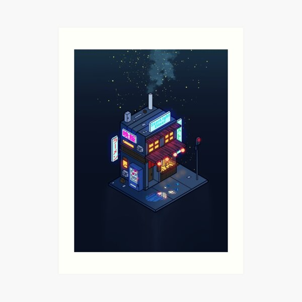 Cyberpunk Juusu Art Print