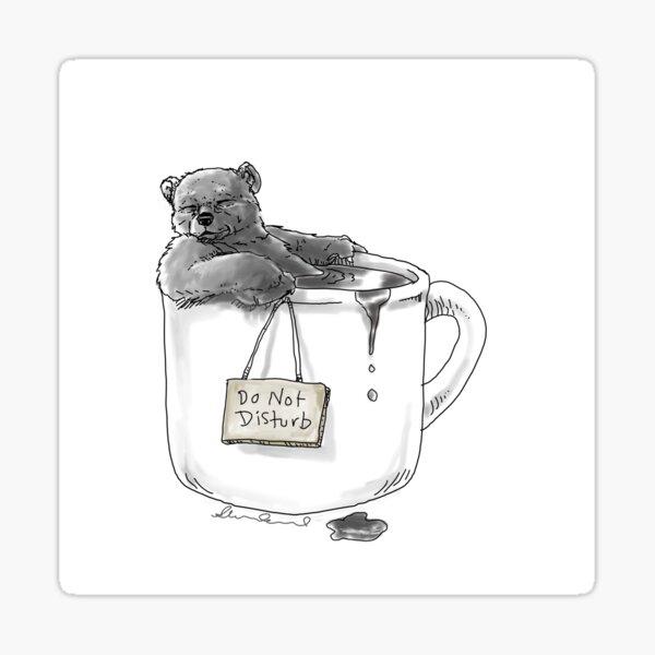 Coffee cup Bear Sticker