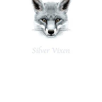 Silver vixen ageing gracefully cool going grey gray hair gift t shirt by Johannesart