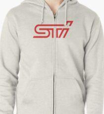 Subaru STI Zipped Hoodie
