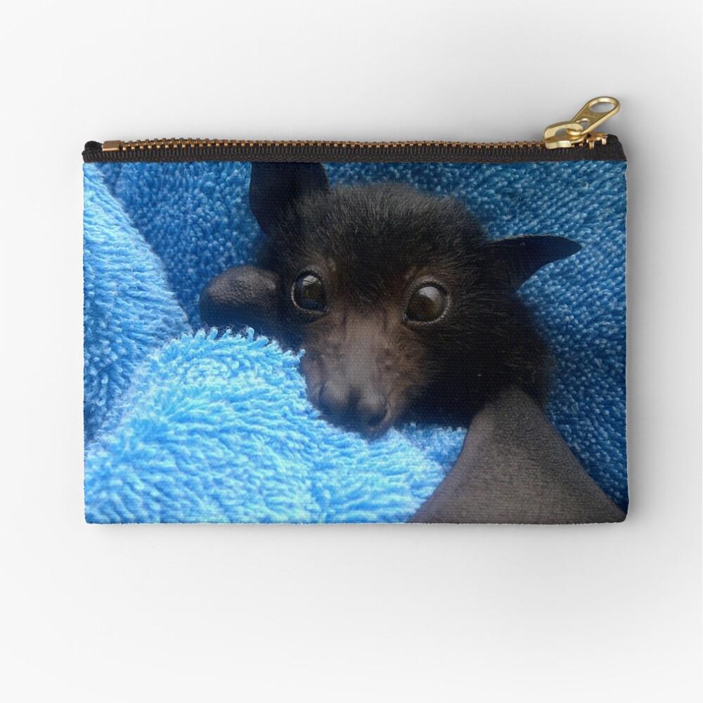 Baby Bat Cruz In Blue. Zipper Pouch