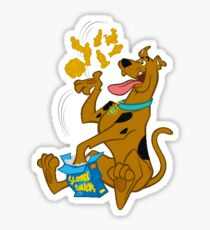 Scooby Doo eating Scooby Snacks (pink) Sticker