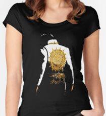 Elvis T-shirt | Elvis zurück Tailliertes Rundhals-Shirt