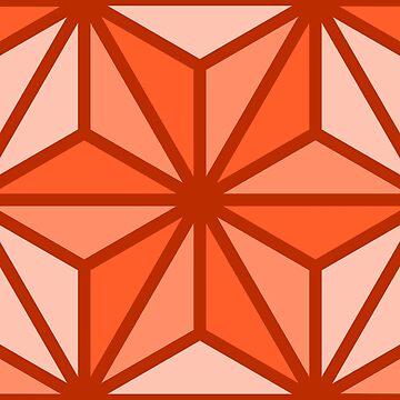 Geometric Pattern: Art Deco Star: Orange by redwolfoz