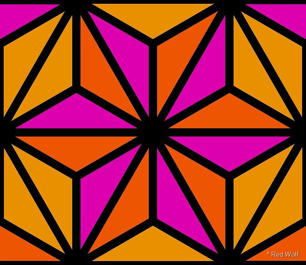 Geometric Pattern: Art Deco Star: Pop by * Red Wolf