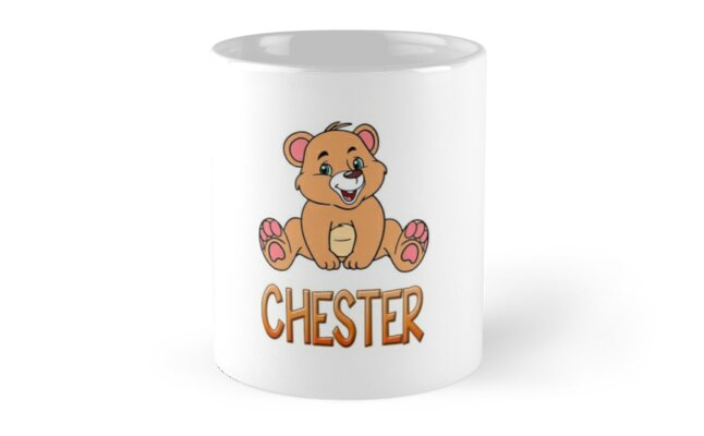 Chester Bear Mug by Shirtiker