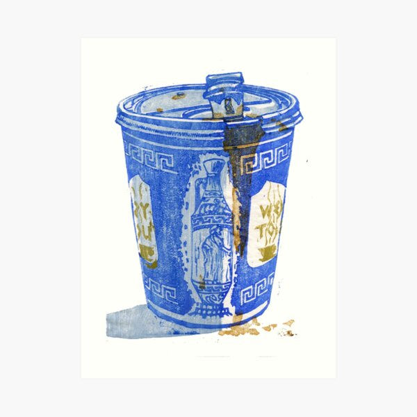 New York Deli Coffee Cup Art Print