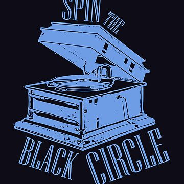 Grunge Vinyl Spin the Black Circle by reydefine